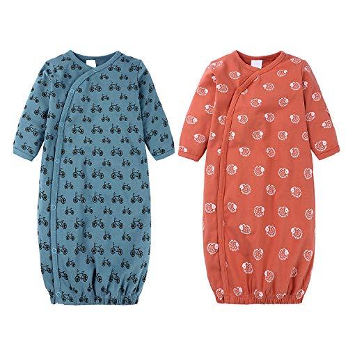 Baby Schlafkleid Langarm Schlafsack Säugling Mädchen Jungen Nachtwäsche Nachthemden Coming Home Outfit