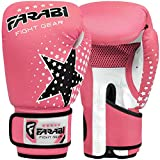 FARABI Niños Guantes de Boxeo, MMA, Muay Thai Junior Punch Bag Mitts Rosa 6 oz