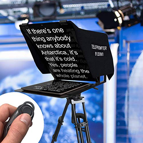 Leeventi Teleprompter I Compatible with iPhone, iPad, Android Smartphones, Photo or Video Camera I Suitable for All tripods I 600g, 30×40×3 cm