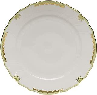 Herend Princess Victoria Green Porcelain Dinner Plate