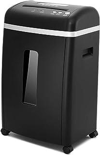 オフィスの商業文書の粉砕機5レベルの機密のシュレッダー世帯の騒音低減のシュレッダーもろいディスク、ステープル、カード携帯電話 (Color : Black, Size : 35.7*27.2*57cm)