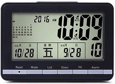 HITO - Reloj de Pared con Alarma Doble y Control de Radio Extra ...