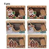 Puimentiua (22 * 15 * 7cm) 3/6/12 Piezas Cajas Bolsas de Regalo de Papel para Calendario de Adviento Boda Navidad Fiestas Cumpleaños Comida Caramelos Dulces Galletas Chocolates
