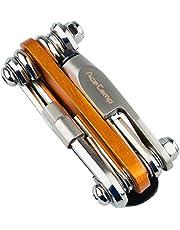 AceCamp All-In-One 2565 Fietstool, multitool, minitool, multifunctioneel gereedschap voor fietsreparatie, 14-in-1 set, 187 g, oranje, zilver