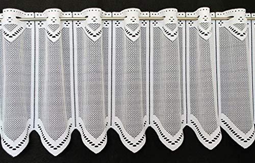 Vitrage neutraal 30 cm hoog   breedte van het gordijn door gekochte hoeveelheid in 12,5 cm stappen te kiezen   kleur: wit   gordijn keuken woonkamer