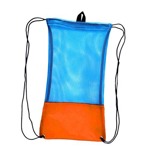 Erwachsene Netzbeutel Flossentasche Tauchen Ausrüstung Tasche wie Flossen Schnorchel Schutzbrille Maske - Orange, L