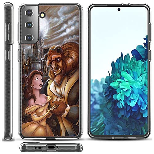 Beauty & The Beast Phone Case for Samsung Galaxy S21 (6.2'), Clear Slim Soft Flexible TPU Gel Shockproof Protective TPU Silicone Skin