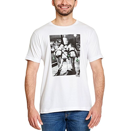 Star Wars Elbenwald Chunk T-Shirt Imperial Fighters at Night Frontprint Fans Herrenshirt weiß - XL