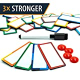 """32 Pieces Strong Dry Erase Magnetic Labels 3.3"""" x 1.3"""" 