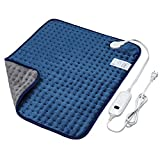 Veken Electric Heating Pad with Fast-Heating Technology, Moist Dry Heat, Auto-Off and Machine Washable, XXL Ultra-Soft Heat Therapy Pad for Cramps/Back/Knee/Neck and Shoulders (20' x 24', Deep Blue)
