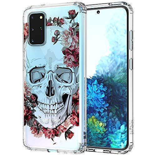 MOSNOVO Galaxy S20 Plus Hülle, Blühen Blumen Schädel Totenkopf Skull Muster TPU Bumper mit Hart Plastik Hülle Durchsichtig Schutzhülle Transparent für Samsung Galaxy S20 Plus Hülle (Floral Skull)