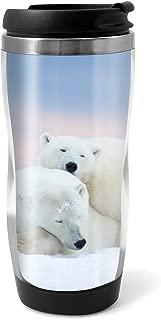 Cute Polar Bears Travel Mug Flask - 330ml Coffee Tea Kids Car Gift #13163