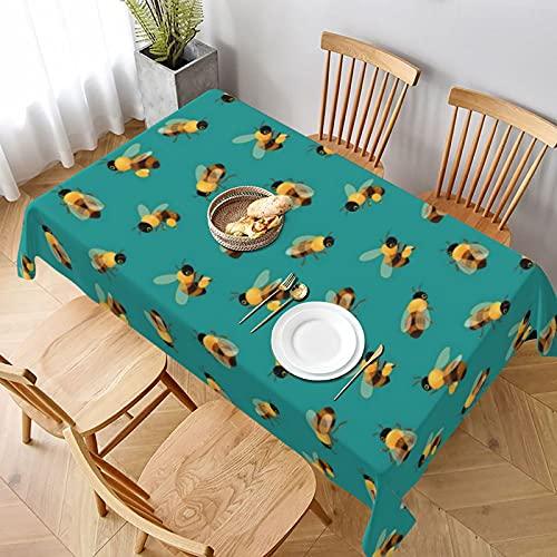 Mantel largo de 152 x 228 cm, con abejas de miel, para el hogar, cocina, comedor, picnic, banquetes y fiestas de campo, decoración