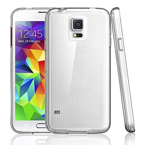 NewTop Cover Compatibile per Samsung Galaxy S2/S3/S5, Custodia Morbido TPU Clear Protettiva Silicone Trasparente Slim Case Posteriore (per S5)