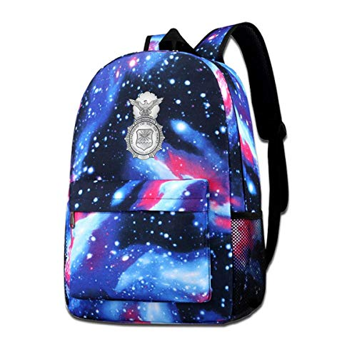 Rogerds Air Force Security Force School Hiking Travel Sac à Dos Camping Starry Sky Daypack for Teen Boys Girls