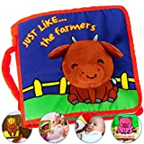 Product Image of the Premium Baby Book (First Year), Cloth Book Baby Gift, Fun Interactive Soft Book...