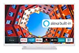 Toshiba 24WK3C64DA 24 Zoll Fernseher (HD ready, Smart TV, Prime Video / Netflix, Alexa Built-In, Bluetooth, WLAN, Triple Tuner), weiß