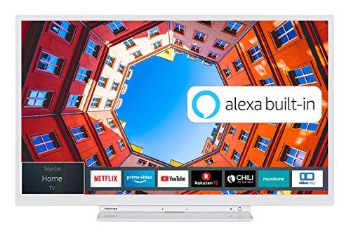 Toshiba 24WK3C64DA 24 Zoll Fernseher (HD ready, Smart TV, Prime Video / Netflix, Alexa Built-In, Bluetooth, WLAN, Triple Tuner), weiß