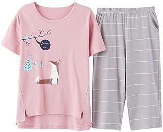 Donna Da Donna Maniche Corte Cotone Jersey Camicia Da Notte Taglia UK 8-22 NUOVO