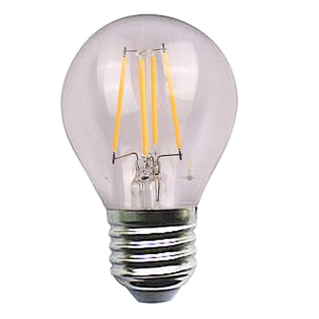 故意の難しい作成するエジソンはフィラメントシリーズ球根4w 110-220vの銀ランプの頭部を導きました