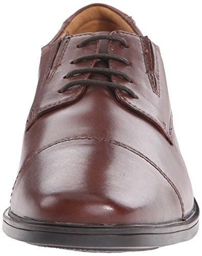 Clarks Men's Tilden Cap Toe Oxford,Brown Leather,US 7 W