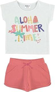 YATSI - Conjunto de algodón para niña Aloha Summer Niñas