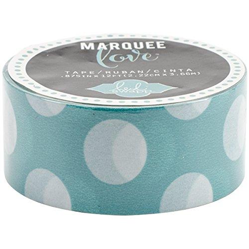 Heidi Swapp Marquee Washi Tape - Minzfarbene Punkte - 2.22 cm x 3.66 m, Japanese Papier, Mint, 7.8 x 2 x 2 cm