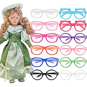 Quality material: the doll eyeglasses are made of plastic, non-toxic and durable for a long-term application Proper size: the doll glasses measures approx. 7.6 x 2.2 cm/ 2.99 x 0.87 inches in size, well fit the 18-inch dolls Package includes: you wil...