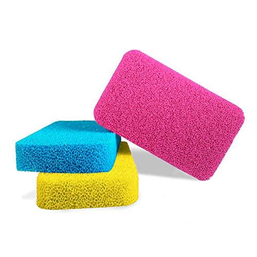 Esponja Antimicrobiana para Platos de Silicona de Smith (Cantidad: 3, Color: Amarillo, Rosa, Azul) | Modernas Esponjas para Cocina y Platos | 100% Resistentes al Moho y Bacterias!