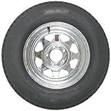 ST205/75D14 LRC 6 PR Eco-Trail Bias Trailer Tire on 14' 5 Lug Galvanized Spoke Trailer Wheel