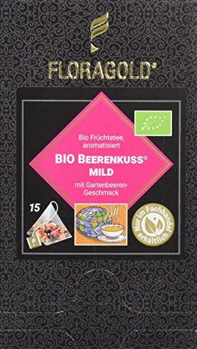 FLORAGOLD Pyramidenbeutel Früchtetee Bio Beerenkuss magenmild, 1er Pack (1 x 68 g)