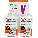 ijCare (100 Strips) Bundle n Save Pack for Oh'Care Lite Blood Sugar Testing Monitor – Glucose Test Strips and Lancets for for Blood Testing – Accurate and Affordable Diabetic Supplies