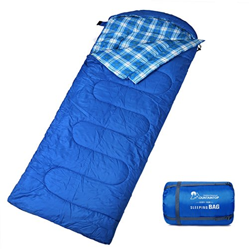 MOUNTAINTOP Schlafsack, Ultraleicht mit kleinstem Packmaß Reiseschlafsack Sommerschlafsack leicht Deckenschlafsack Produkt A Blau