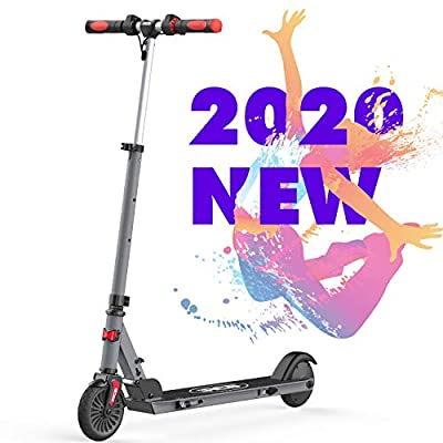 """RCB 5.5"""" Adjustable Folding Electric Scooter for Children 20 km/h Max Speed Scooter Lightweight IP4 Waterproof Reflective Sticker Anti-Slip Handlebar (grey)"""