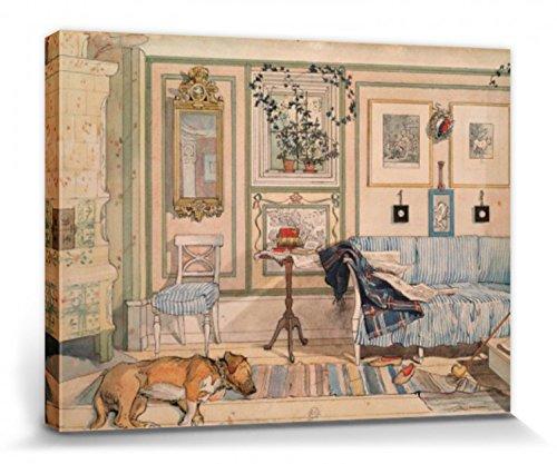 1art1 Carl Larsson - Mein Wohlfühl-Zimmer, 1894 Bilder Leinwand-Bild Auf Keilrahmen | XXL-Wandbild Poster Kunstdruck Als Leinwandbild 80 x 60 cm