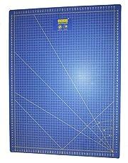 Base de corte Patchwork profesional Azul 60x45 auto cicatrizante de alta calidad por una lado en centímetros y por el otro en pulgadas