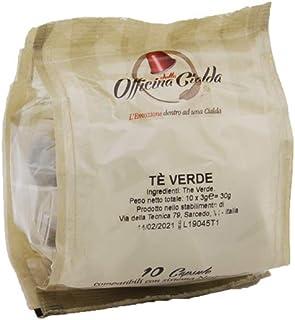ODC MADE IN ITALY Kit de 100 CAPSULAS DE TÉ VERDE Compatibles con las Máquinas de Café Nespresso.