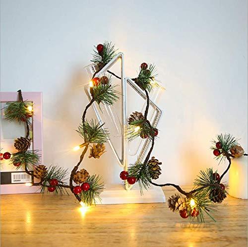 Eamplest Guirnalda Luces, 2M 20 LEDs Decorative Fairy Lights, 2 modos, Decoración de luces de noche para la decoración de la Navidad
