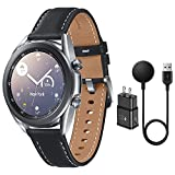 Samsung Galaxy Watch 3 Stainless Steel (41mm) SpO2 Oxygen, Sleep, GPS Sports + Fitness Smartwatch, IP68 Water Resistant, International Model - No S Pay SM-R850 (Fast Charge Cube Bundle, Silver)