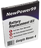 NewPower99 Battery Replacement Kit with Battery, Instructions and Tools for Google Nexus 4
