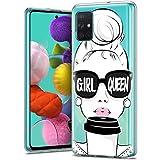 ZhuoFan Funda Samsung Galaxy A71 4G, Cárcasa Silicona Transparente con Dibujos Diseño Suave TPU...