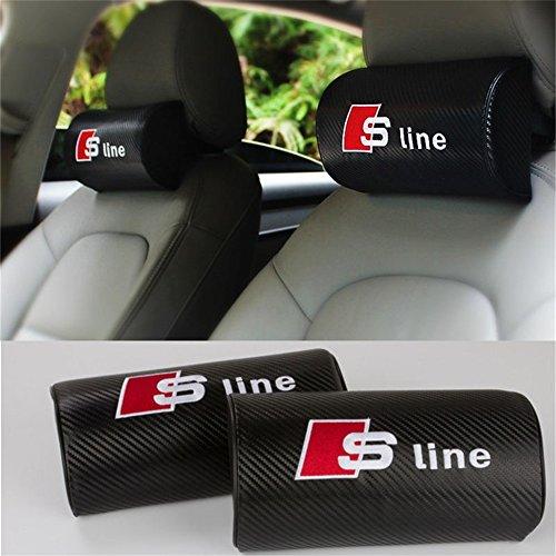 AUTO-P Auto-Kopfstütze Nackenkissen Sitzkissen Bezüge für Audi Sline A3 A4L A4 A5 A6L A7 A8L Q3 Q5 Q7 TT S3 S5 S7 A4 B6 A6 C5 A4 B8