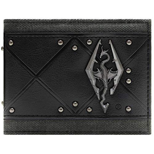 Bethesda Elder Scrolls 3D Skyrim Logo Noir Portefeuille