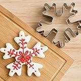 N/B WWTTE - Molde de acero inoxidable para tartas, diseño de nieve