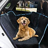 EZVOV 2021 Updated Dog Seat Cover for Back Seat, Waterproof Dog Car Seat Covers Nonslip Pet Seat Cover for Back Seat with Storage Pockets, Scratch Proof Dog Car Hammock for Cars Trucks and SUVs