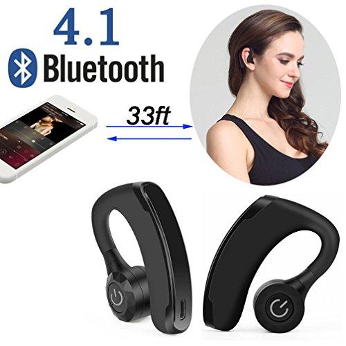 Xshuai Long Life Span Dual Wireless True Zwillinge Universal Bluetooth Stereo Headset In-Ear Kopfhörer HD MIC(Schwarz)