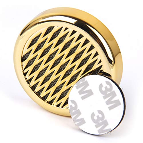 Cigar Humidifier, Anync Cigar Humidor Humidifier with 3M Magic Patch for Cigars Humidor, Round and PVC Material, Gold Tone