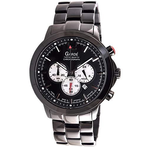 Gardé Ruhla-Quartz Uhr Herren Edelstahl Chronograph Modell 91197 mit Saphirglas