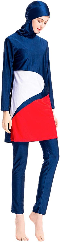 Zhhlinyuan Muslim Swimwear for Women Girls - Long Sleeve UPF 40-50+ Swimming Costume with Hijab