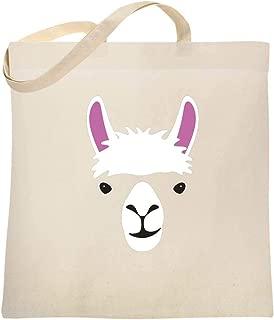 Llama Big Animal Face Cute Funny Large Canvas Tote Bag Women